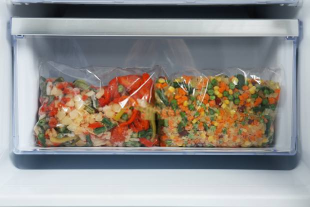 Organize the food on your cooler