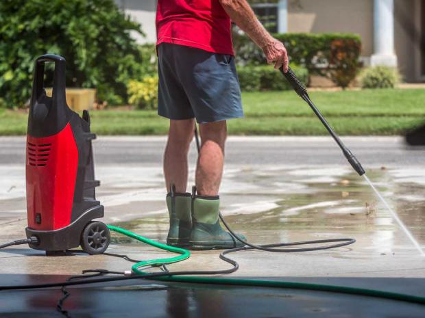 Learn how to pressure wash your driveway