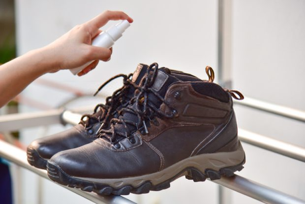 A few sprays of deodorizer to fix your smelly shoes