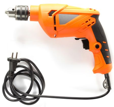 The corded drill is the forerunner of the cordless drill