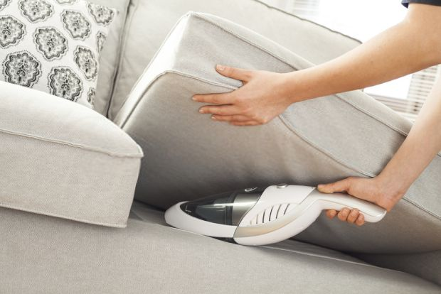 A hand vacuum will offer better comfort when vacuuming in unusual places