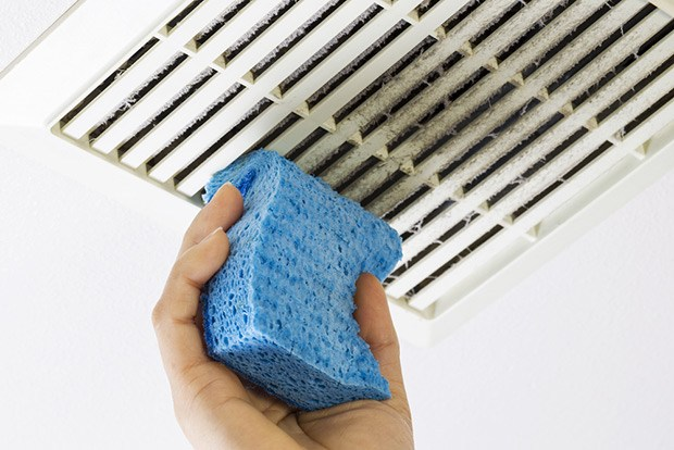 Cleaning the bathroom vent