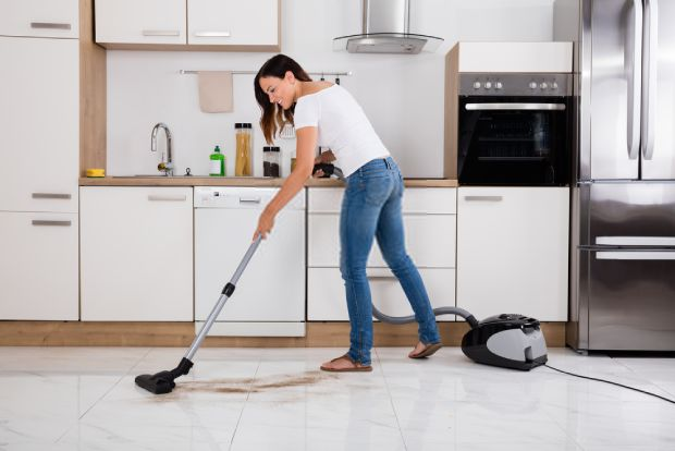 Finish cleaning by using your vacuum cleaner