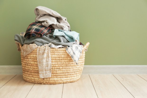 Add baking soda to your laundry basket to reduce the odor