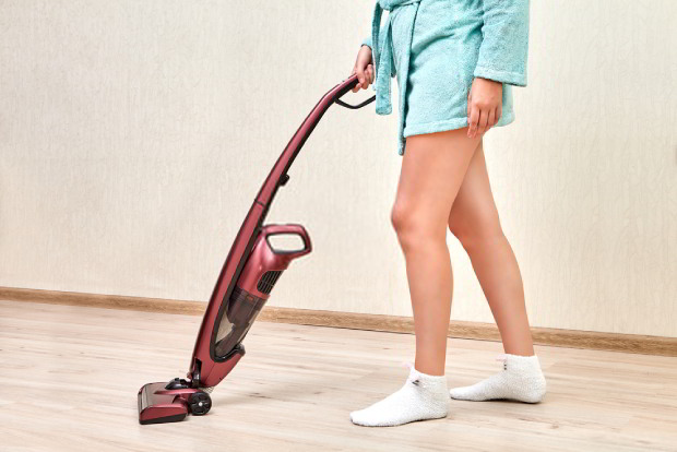 The upright vacuum is the most commonly-used type