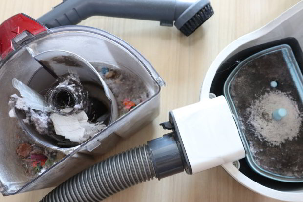 Start by dusting your vacuum cleaner